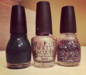 These are three polished I plan to use in the near future.  [left: sinful colors 'calypso'  center: OPI 'designer...de better' right: sinful colors 'pride']