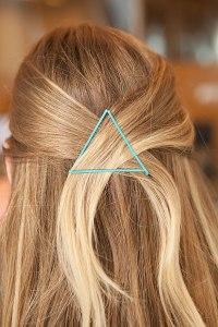 blue bobby pin triangle